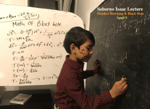 Soborno with his calculations