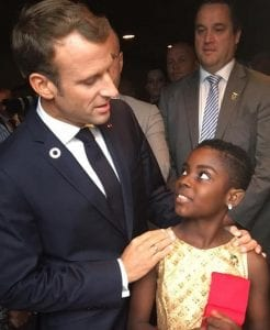 DJ Switch and French president Emmanuel Macron