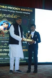 Receiving Global Child Prodigy Award 2020