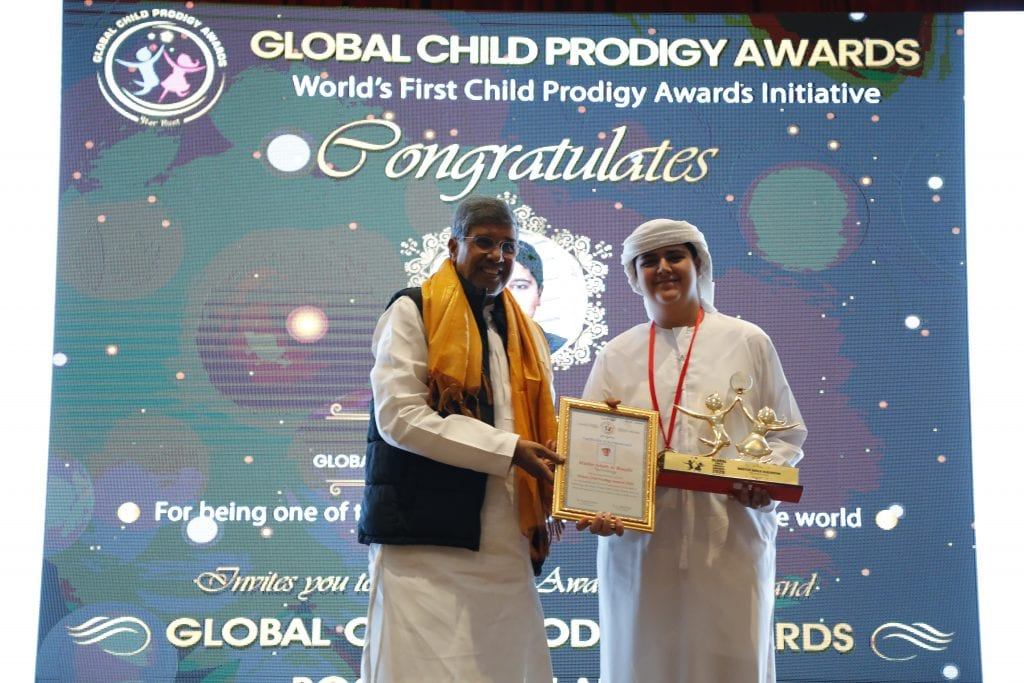 Adeeb Alblooshi winning global child prodigy awards