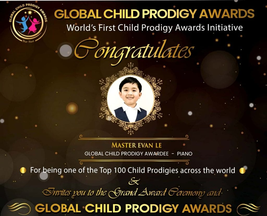 evan le in global child prodigy awards